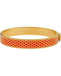 Halcyon Days   Metallic Salamander 18ct Gold-plated Bangle   Lyst