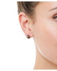 Ruth Tomlinson - Metallic Gold Black Pearl Encrusted Stud Earrings - Lyst