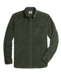 Brooks Brothers | Green Pinwale Corduroy Shirt for Men | Lyst