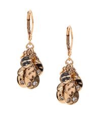 Anne Klein | Metallic Goldtone Cluster Drop Earrings | Lyst