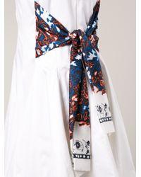 Thakoon - White Side Tie Dress - Lyst