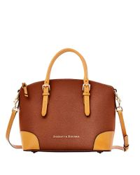 Dooney & Bourke | Brown Claremont Leather Dome Satchel Bag | Lyst