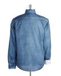 Guess | Blue Cotton Sportshirt for Men | Lyst