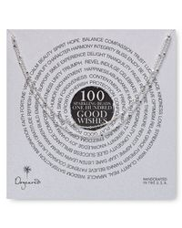 """Dogeared - Metallic 100 Good Wishes Tiny Beads Necklace, 41"""" - Lyst"""