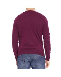 Polo Ralph Lauren | Purple Sweater Merino V Slim Fit for Men | Lyst