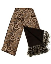 Black.co.uk - Metallic Regale Silk Satin Dress Scarf With Hand Knotted Tassels Description Delivery & Returns Reviews for Men - Lyst