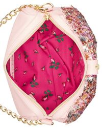 Betsey Johnson | Pink Macy's Exclusive Sequin Bow Crossbody | Lyst