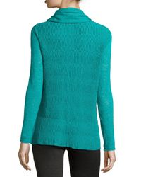 Lafayette 148 New York - Green Wave-textured Cardigan - Lyst
