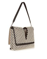 Jil Sander | Black View Striped Shoulder Bag | Lyst