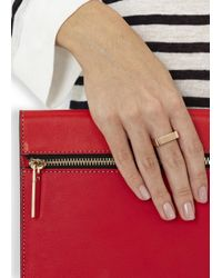 Vitaly | Metallic Vesi Rose Gold-plated Square Ring | Lyst