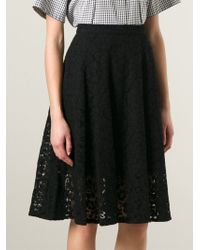 MSGM - Black Lace Skirt - Lyst