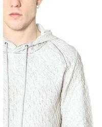 Tom Rebl White 3D Pattern Coated Cotton Sweatshirt for men