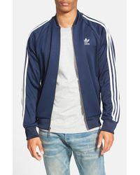 Adidas Originals Blue 'superstar' Track Jacket for men