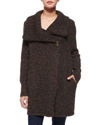 Joie - Brown Maurise Multicolor Tweed Cardigan - Lyst
