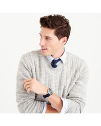 J.Crew | Gray Italian Wool Cable Sweater for Men | Lyst