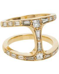 Hoorsenbuhs - Metallic Diamond & Gold Dame Phantom Ring - Lyst