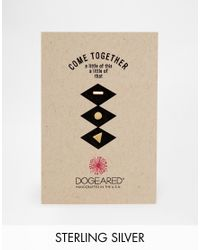 Dogeared | Metallic Gold Plated Come Together Bar Circle And Triangle Set Of 3 Stud Earrings Multipack | Lyst