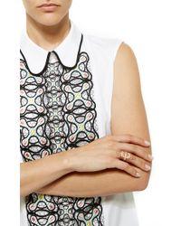 Joelle Jewellery   Metallic 18K Pink Gold Lace Ring   Lyst