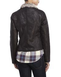 Raison D'etre - Black Faux Shearling Jacket - Lyst