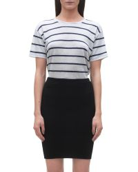 Whistles Black Jersey Tube Skirt