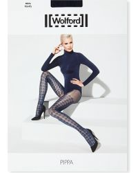 Wolford Blue Pippa Tights