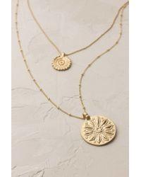Anthropologie - Metallic Medallion Necklace - Lyst