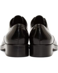 DSquared² - Black Leather Slip_on Derbys for Men - Lyst