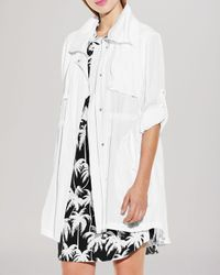 Vince Camuto - White Hooded Anorak - Lyst