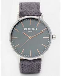 Ben Sherman Gray Canvas Strap Watch for men