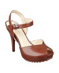 Nine West - Brown Ratical Platform Sandals - Lyst