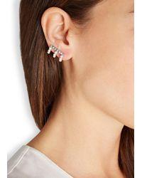 Ca&Lou | Metallic Virginia Silver Plated Swarovski Earrings | Lyst