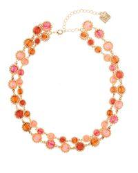 Anne Klein | Pink Beaded Gem Collar Necklace | Lyst
