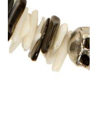 Duchess Of Malfi - Black Lip Shell And White Coral Skull Bracelet - Lyst