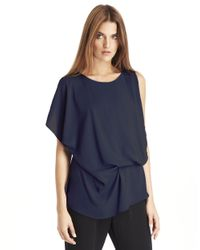 Kenneth Cole | Blue Brandon Blouse | Lyst