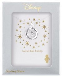 Disney - Metallic Pooh Engraved Pendant Necklace In Sterling Silver - Lyst
