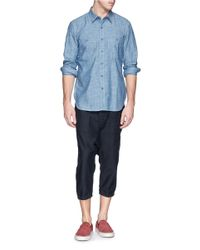 NLST - Blue Cotton Denim Naval Shirt for Men - Lyst