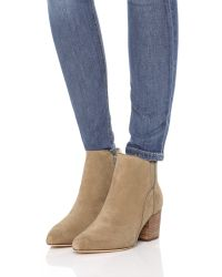 Belle By Sigerson Morrison - Natural Cynna Suede Booties - Lyst