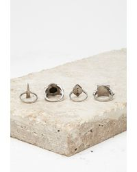 Forever 21 - Metallic Faux Mother-of-pearl Ring Set - Lyst