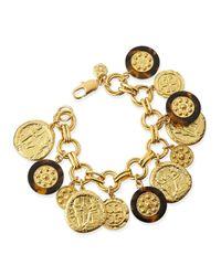 Tory Burch | Metallic Shiloh Charm Bracelet | Lyst