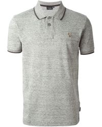 Paul Smith - Gray Marled Polo Shirt for Men - Lyst