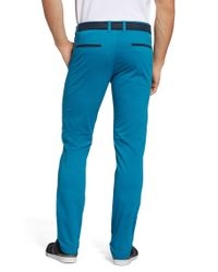 BOSS Green Blue 'leeman-w' | Slim Fit, Stretch Cotton Pants for men