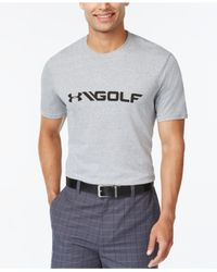 Under Armour Gray Golf Graphic T-shirt for men