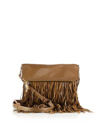 Elizabeth and James | Brown Andrew Fringed Leather Foldover Crossbody Bag | Lyst