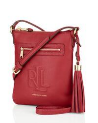 Lauren by Ralph Lauren - Red Leather Crossbody Bag - Lyst