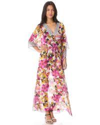 Tory Burch - White Catarina Caftan Cover Up Maxi Dress - Ivory Elandia/ivory Cera - Lyst