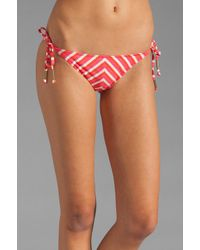 Ella Moss Red Portofino Tie Side Bottom