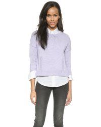 DEMYLEE Purple Giselle Sweater - Lavender