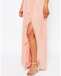 ASOS | Orange Petite Wedding One Shoulder Sexy Slinky Maxi Dress | Lyst