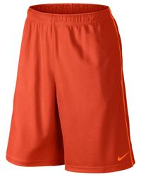 "Nike Orange 10"" Epic Knit Performance Shorts for men"
