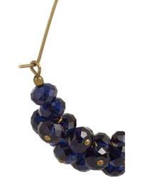 Isabel Marant - Blue Gold-Tone Crystal Hoop Earrings - Lyst